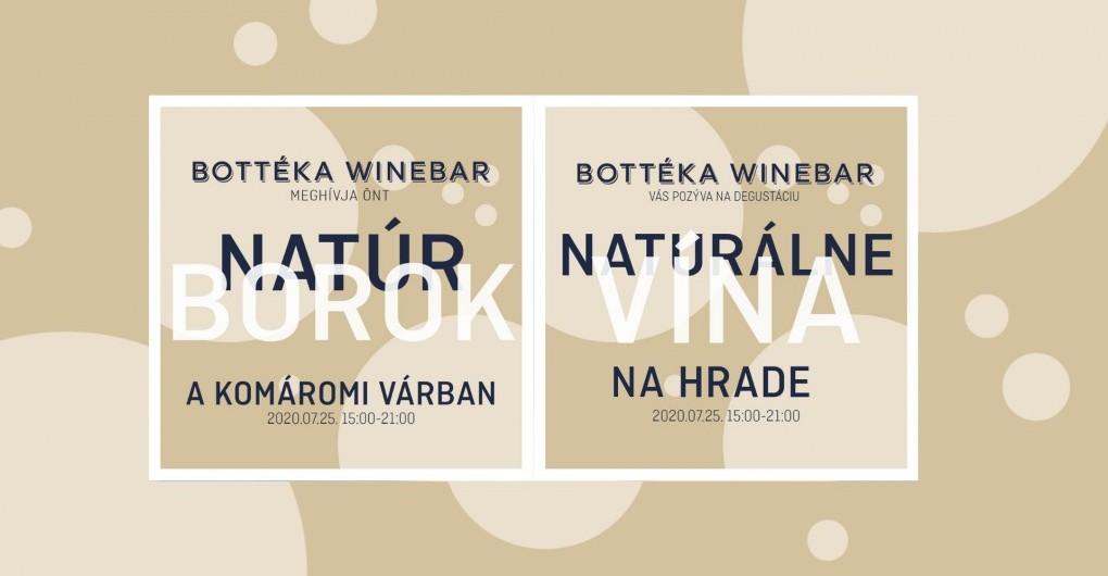 Natúr borok a várban - Naturálne vína na hrade